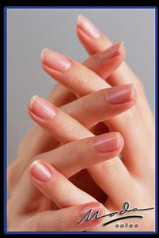 Pink and White manicure Boca Raton